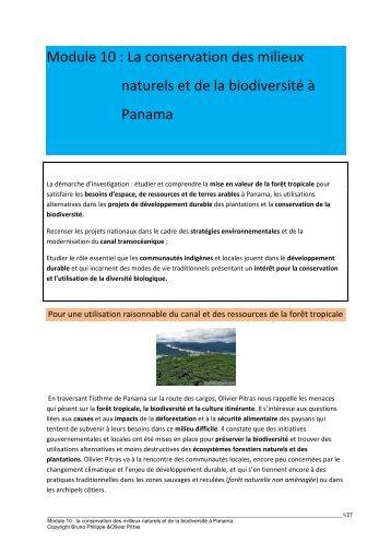 Module 10 : La conservation des milieux naturels et de la ... - 69 Nord