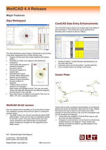 WellCAD Newsletter - Advanced Logic Technology