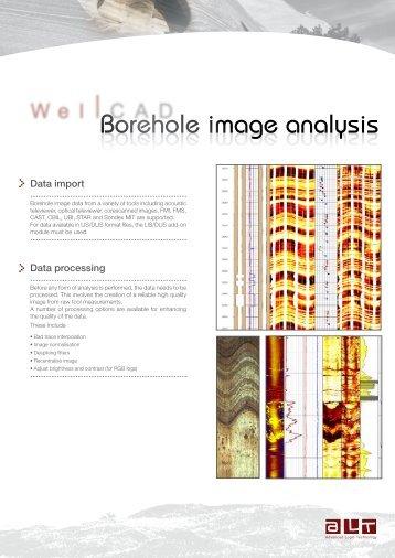Borehole image analysis Borehole image analysis