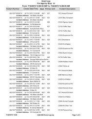 CAD-090 Event Log - The Belleville Lake Current