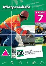 LBB - Leingartener Baumaschinen & Baugeräte Vertriebs GmbH