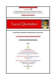 LQ 80 - Lacan Quotidien