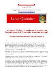 LQ 334 - Lacan Quotidien