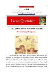 LQ 324 - Lacan Quotidien