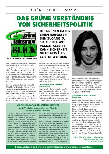 Ihr Grüner Draht - Die Grünen Landstrasse