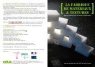 LA FABRIQUE DE MATÉRIAUX & TEXTURES - CAUE Haute-Savoie