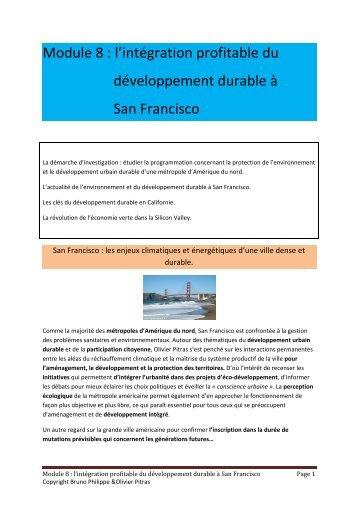 Module 8 : l'intégration profitable du développement ... - 69 Nord