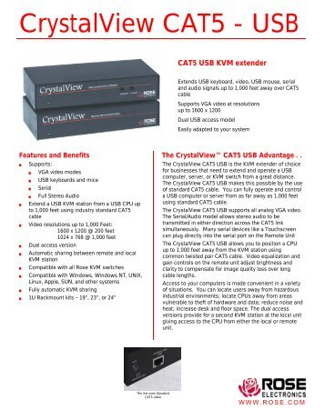 CrystalView CAT5 - USB - Rose Electronics