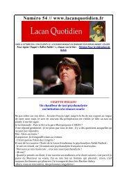 Pour Rafah - Lacan Quotidien