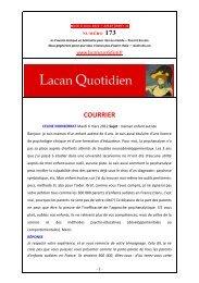 LQ 173 - Lacan Quotidien