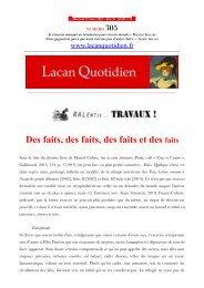 LQ 305 - Lacan Quotidien