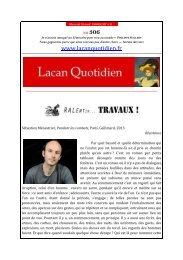 LQ 310 - Lacan Quotidien
