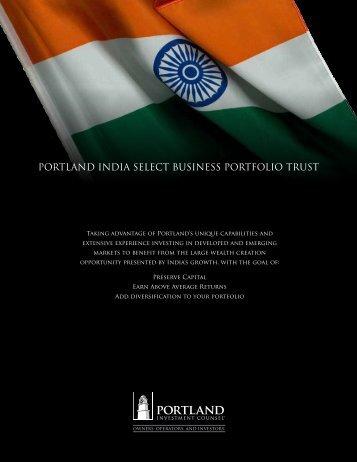 PORTLAND INDIA SELECT BUSINESS PORTFOLIO TRUST