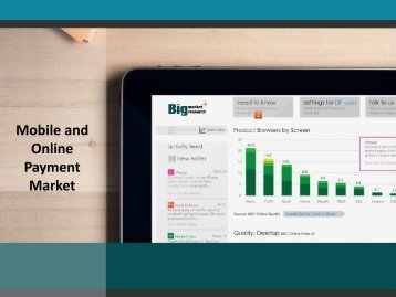 Mobile and online payment Market-New stakes and new business models