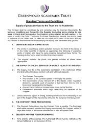 Standard Terms and Conditions for supplying goods/services