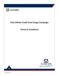 Visa Infinite Credit Card Usage Campaign Terms & Conditions