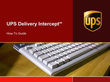 UPS Powerpoint Presentation Template