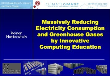 Massively Reducing Electricity Consumption and Greenhouse ...