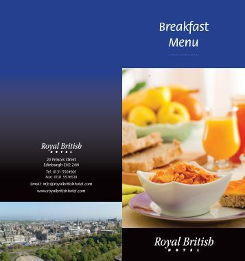 Breakfast Menu - Royal British Hotel