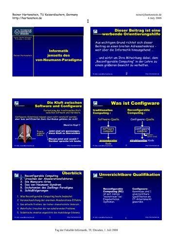 Coarse Grain Reconfigurable Architectures - Xputer Lab ...