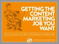 getting job you want - Content Marketing Institute