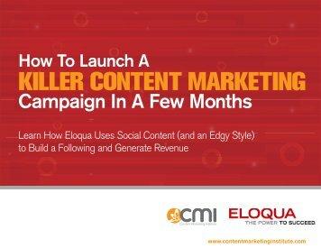 Eloqua - Content Marketing Institute