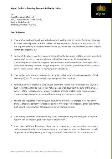 trader application letter