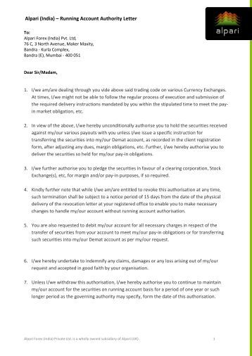 Forex trader application letter