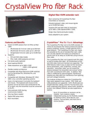 CrystalView Pro fiber Rack - Rose Electronics