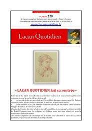 LQ 228 - Lacan Quotidien