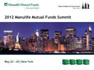 Manulife Strategic Income Fund - Manulife Mutual Funds