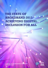 THE STATE OF BROADBAND 2012: ACHIEVING DIGITAL INCLUSION FOR ALL