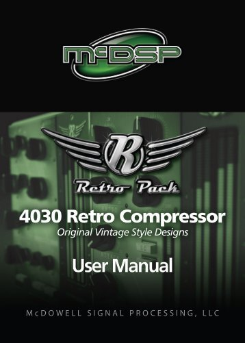 User Manual - McDSP