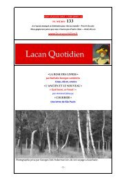 LQ 133 - Lacan Quotidien