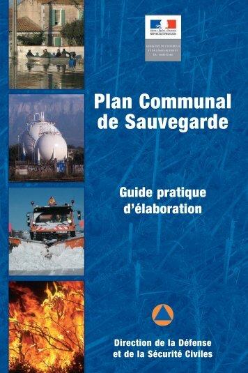 Plan Communal de Sauvegarde - Ministère de l'Intérieur