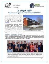 Le projet sp@rt - Commission scolaire de la Seigneurie-des-Mille-Îles