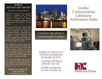 Cardiac Catheterization Laboratory Performance Audit - Health Care ...