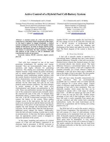 Active Control of a Hybrid Fuel Cell-Battery System - Illinois Institute ...