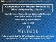 Computationally-Efficient Methods for Blid Adaptive Equalization