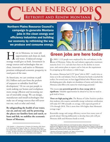 Clean Energy Jobs - Northern Plains Resource Council
