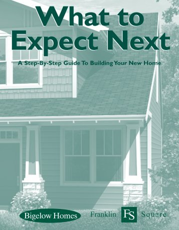 Home Building Guide PDF - By Bigelow Homes