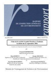 rapport de l'Inspection générale de l'Environnement - Risques ...