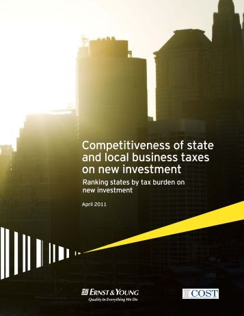 Competitiveness of state and local business taxes on new investment