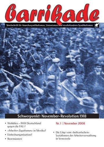barrikade # 1 - November-Revolution 1918