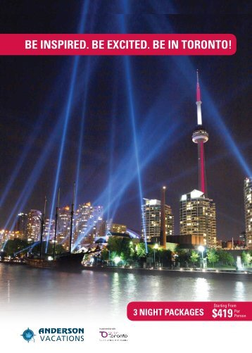 Be InspIred. Be excIted. Be In toronto!