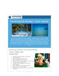 Cooks Island Savings - June, 2012 - Anderson Vacations