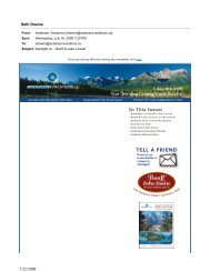Spotlight on Banff & Lake Louise – June 2008 - Anderson Vacations