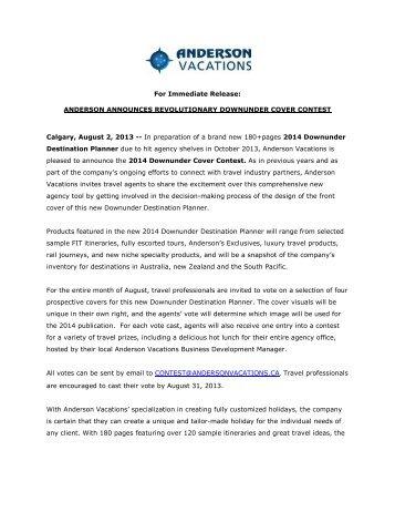 read more - Anderson Vacations