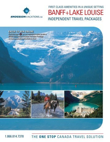 BANFF+LAKE LOUISE - Anderson Vacations