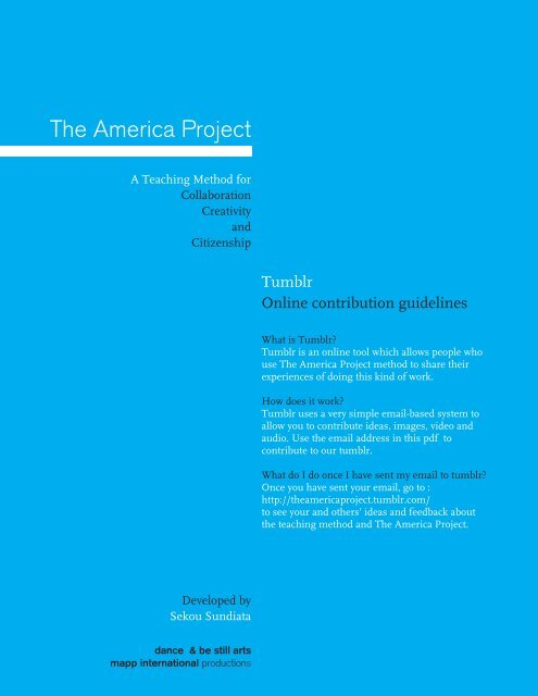 The America Project - MAPP International Productions